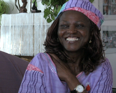 Madame Mabiala lors de son interview en 2011