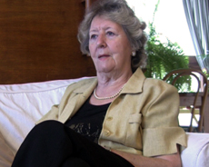 Mme Schiff lors de son interview en avril 2009