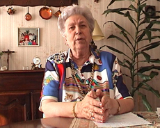 Madame Callier lors de son interview en mars 2002